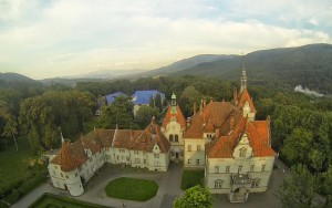 замок шенборна с высоты